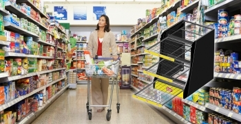 Shelf displays for aisles & other floor areas